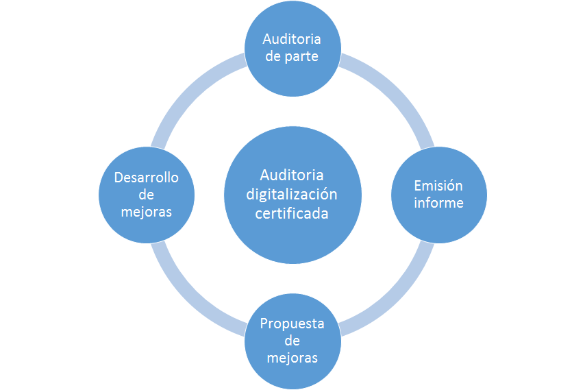 Auditoria software digitalización certificada