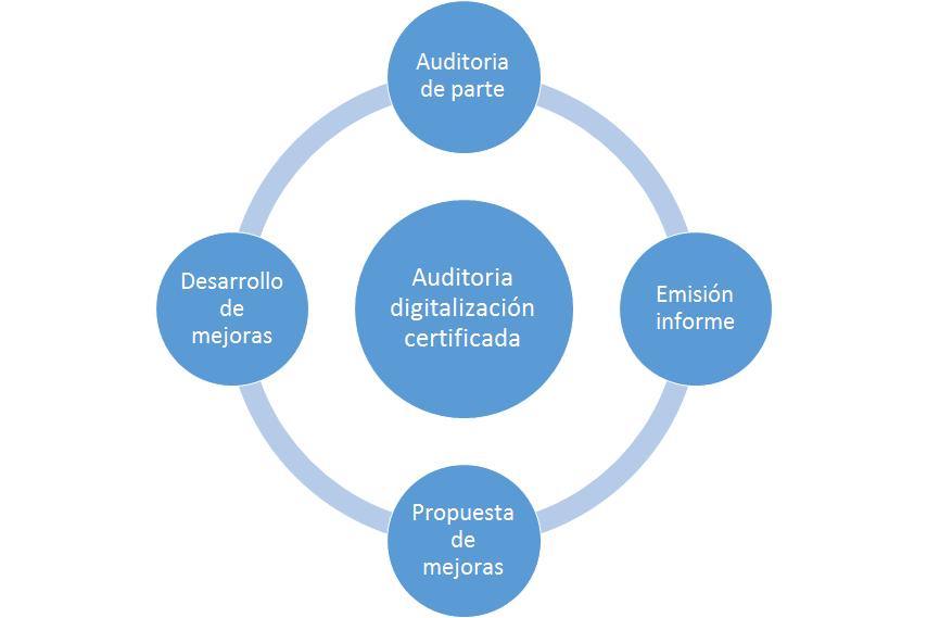 Auditoria software digitalización certificada