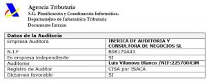 Auditor de digitalización certificada de facturas